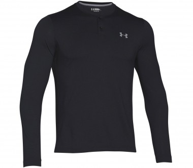 Under Armour - Coldgear Infrared Henley Herren Trainingsshirt (schwarz)