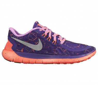 Nike - Free 5.0 Lava Junior Laufschuh (lila/orange)