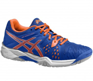 Asics - Gel-Resolution 6 GS Junior Tennisschuh (blau/orange)