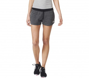 Adidas - Cotton Fleece Damen Trainingsshort (schwarz/weiß)