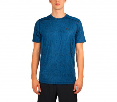 Under Armour - Raid Shortsleeve Herren Trainingsshirt (blau/schwarz)