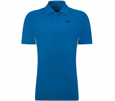 Head - Push Zip Herren Tennispolo (blau)