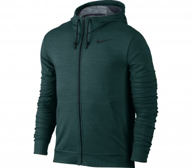 Nike - Dry Fleece Full-Zip Herren Trainingshoodie (grün)