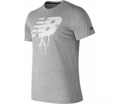 New Balance - Graphic Heather Tech Herren Laufshirt (grau)