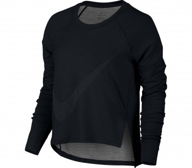 Nike - Sphere-Dry Longsleeve Damen Trainingstop (schwarz)