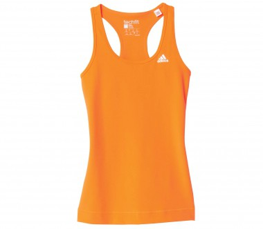 Adidas - Techfit Damen Trainingstankshirt (orange)