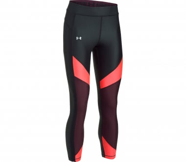 Under Armour - Heatgear Color Blocked Ankle Crop Damen Trainingstight (schwarz/rot)