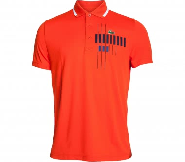 Lacoste - Novak Djokovic Ribbed Collar Shortsleeve Herren Tennispolo (orange)