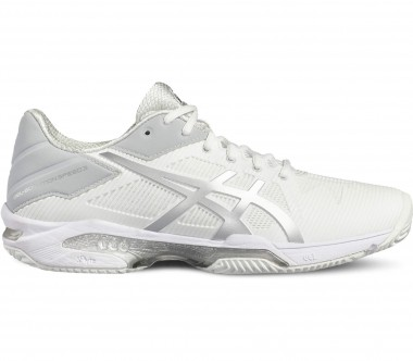 Asics - Gel-Solution Speed 3 Clay Damen Tennisschuh (weiß/grau)