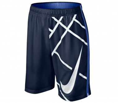 Nike - Court 8 Inch GFX Junior Trainingsshort (blau/dunkelblau)