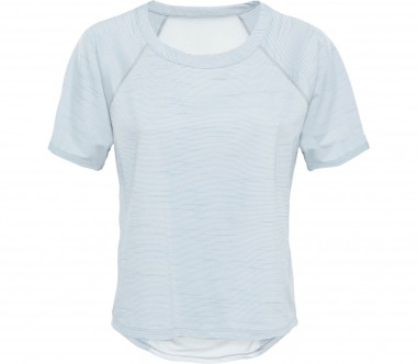 The North Face - Motivation Stripe Shortsleeve Damen Funktionsshirt (blau)