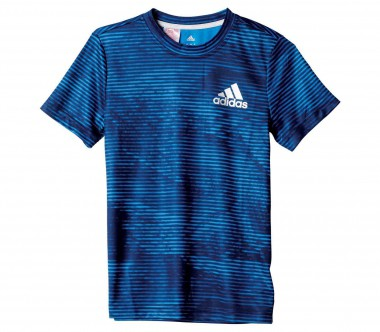 Adidas - Climalito All Over Printed Junior Trainingsshirt (blau)