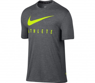 Nike - Touch Plus Shortsleeve Herren Trainingsshirt (grau/grün)