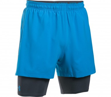 Under Armour - Mirage 2-IN-1 Herren Trainingsshort (blau/schwarz)