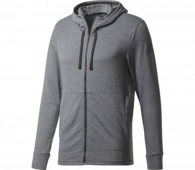 Adidas - Workout Full Zip Light Herren Trainingshoodie (dunkelgrau)