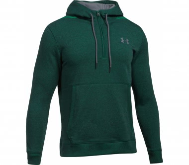 Under Armour - Threadborne Half-Zip Herren Trainingshoodie (grün/grau)