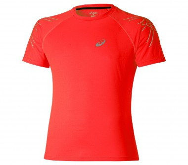 Asics - Stripe SS Top Herren Laufshirt (orange)