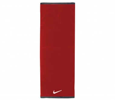 Nike - Fundamental Towel Handtuch - Large (rot/weiß)