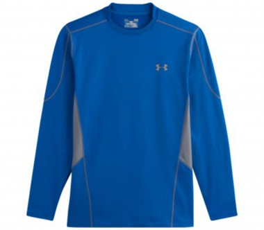 Under Armour - Evo Coldgear Fitted Hybrid Mock Herren Trainingsshirt (blau)
