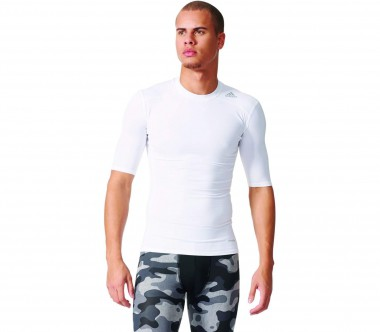 Adidas - Techfit Base Tee Herren Trainingsshirt (weiß)