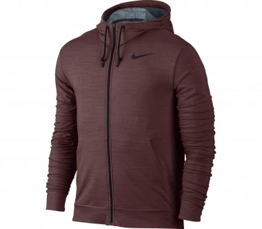 Nike - Dry Fleece Full-Zip Herren Trainingshoodie (dunkelrot)