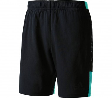 Adidas - Speed Knitted Woven Herren Trainingsshort (schwarz/türkis)