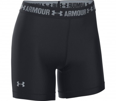Under Armour - Heatgear Armour Middy Damen Trainingsshort (schwarz)