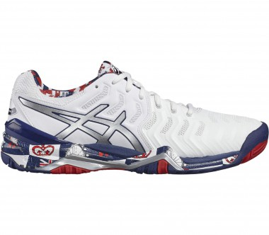 Asics - Gel-Resolution 7 L.E. London Herren Tennisschuh (weiß/grau)