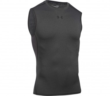 Under Armour - Heatgear Armour SL Herren Trainingsshirt (dunkelgrau)