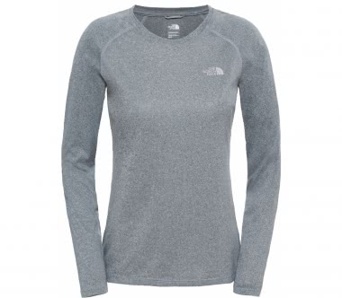 The North Face - Reaxion Amp Longsleeve Crew Damen Trainingsshirt (grau)