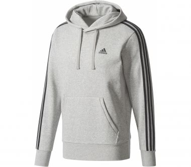 Adidas - Essential 3 Stripes Herren Trainingshoodie (grau)