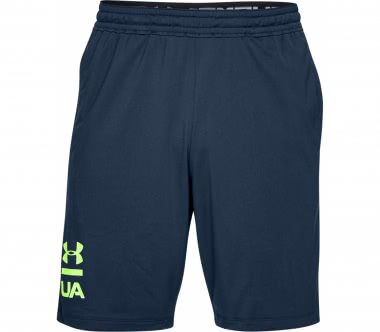 Under Armour - Raid 20 Graphic Herren Trainingsshort (dunkelblau/gelb)