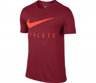 Nike - Dry Herren Trainingsshirt (dunkelrot/orange)