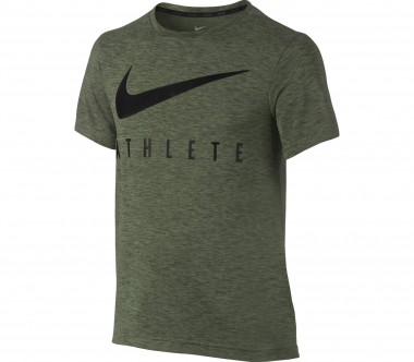 Nike - Dry Shortsleeve Junior Trainingstop (dunkelgrün/schwarz)
