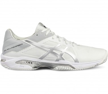 Asics - Gel-Solution Speed 3 Clay Herren Tennisschuh (weiß/grau)