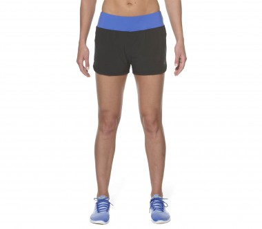 Asics - Woven 2 in 1 Damen Trainingsshort (schwarz/blau)