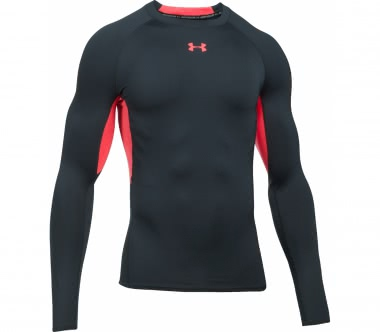 Under Armour - Heatgear Armour Herren Trainingslongsleeve (anthrazit/rot)