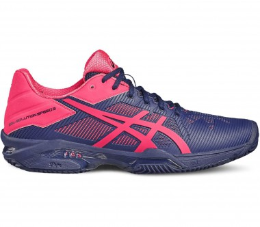 Asics - Gel-Solution Speed 3 Clay Damen Tennisschuh (blau/pink)