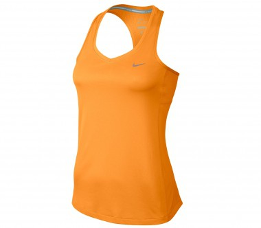 Nike - Miler Tank Damen Laufshirt (orange)