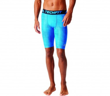 Adidas - Techfit Chill Graphic Tight9 Herren Trainingsshort (blau/schwarz)
