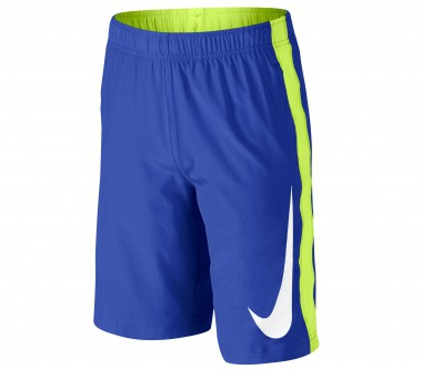 Nike - As Fly Woven Junior Trainingsshort (blau/hellgrün)