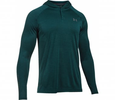 Under Armour - Tech Popover Henley Herren Trainingslongsleeve (hellgrün/grau)