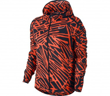 Nike - Palm Impossibly Light Damen Laufjacke (rot/schwarz)