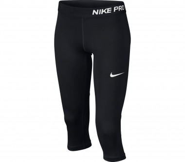 Nike - Pro Caprihose Junior Trainingstight (schwarz/weiß)