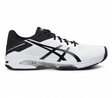 Asics - Gel-Solution Speed 3 Clay Herren Tennisschuh (schwarz/weiß)