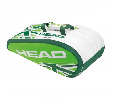 Head - Wimbledon Special Edition Monstercombi Andy Murray Tennistasche (weiß/grün)