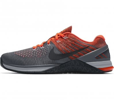 Nike - Metcon DSX Flyknit Herren Trainingsschuh (grau/orange)