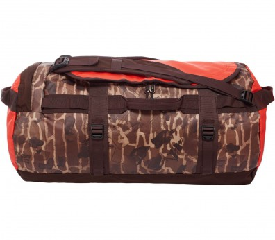 The North Face - Base Camp Duffel Bag M (dunkelbraun/rot)