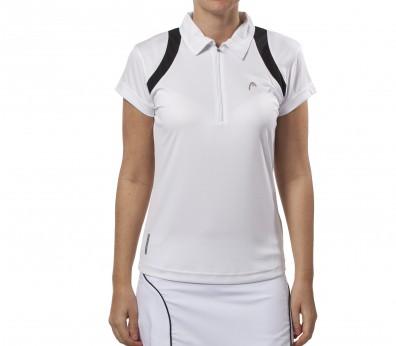 Head - Club Line PoloT-Shirt Women´s white/black