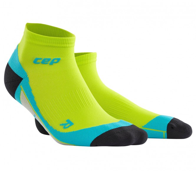 CEP - Short Herren Laufsocken (hellgrün/blau) - V